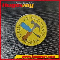 button badge with safety pin Metal Crafts New Product Soft Enamel Pins