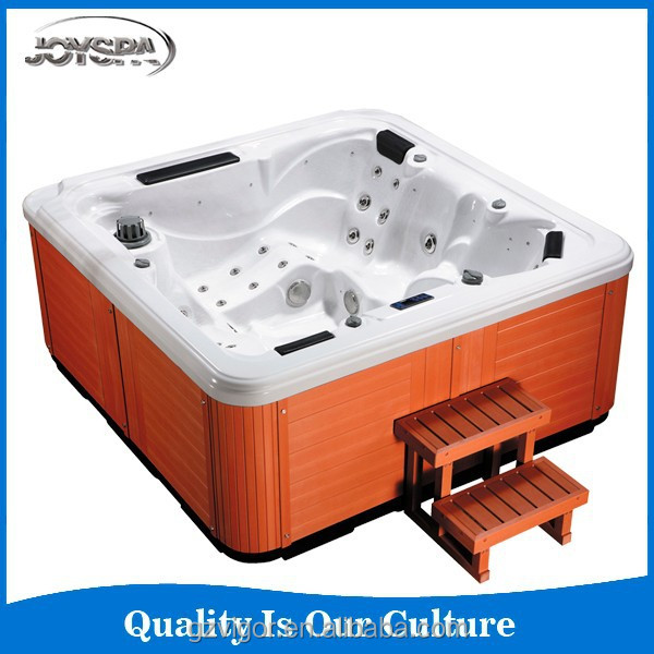 hydrotherapy outdoor spa/outdoor spa with hydromassage system watertreat outdoor bathtub for 5 people with 12 acrylic choice
