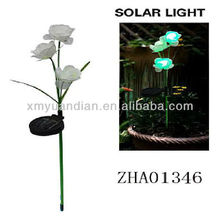 beautiful artificial flower with solar LED light stake