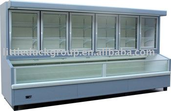 Freezer/refrigerated display case with 6 doors-ST.PAWL