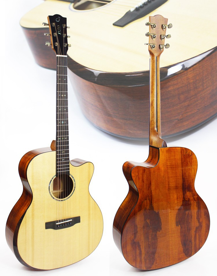 41 inch top solid wood china made acoustic guitars