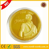 China Online Shopping Michael Jackson MJ King of Pop Metal Decoration Coin, 24k Gold Plated Souvenir Coin