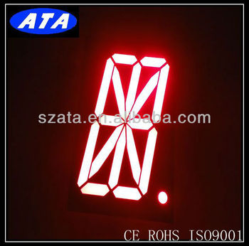 super red 16 segment alpha digit display
