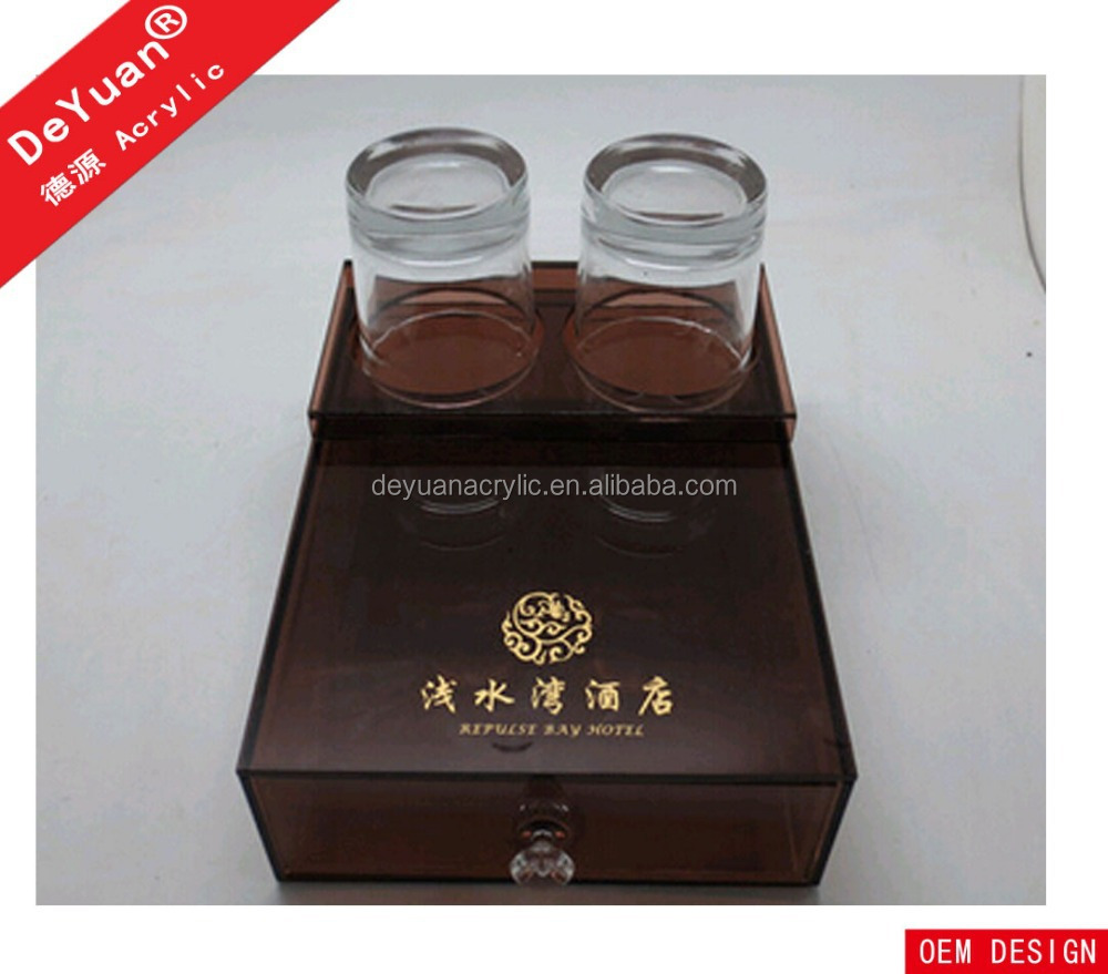 New Design Hot Sale Acrylic Hotel Tray for Hotel Room Consumables Wholeasle