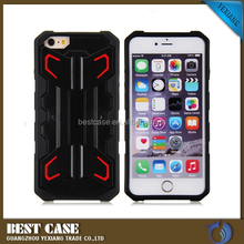 Rugged Kickstand Heavy Duty Cover for iPhone 6 pc tpu hybrid case