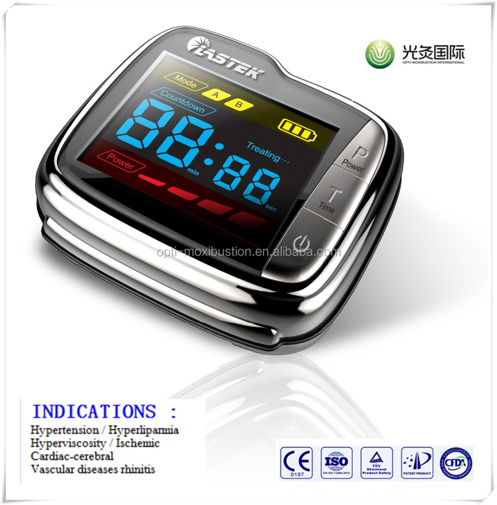 Laser watch for blood purifier/blood irradiation/blood cleaner CE automatic watch equipment