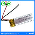 GEB301030 3.7v 60mAh li po rechargeable battery