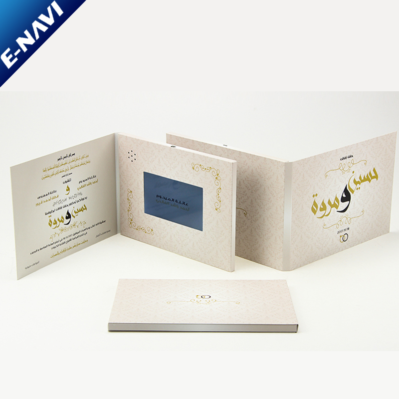 Customized Printing 10inch USB Brochure Softcover Direct Mail Video Card for Advertising Gifts