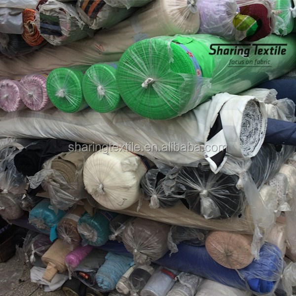 Polyester Stock Fabric/Mixed Stocklots Fabric/Cheap Price By Kg Stock Fabric