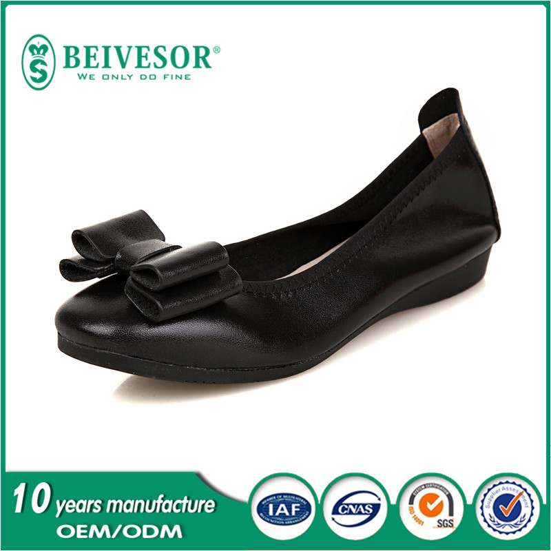 New 2016 Hot sell women soft foldable fashion leather ballet flats