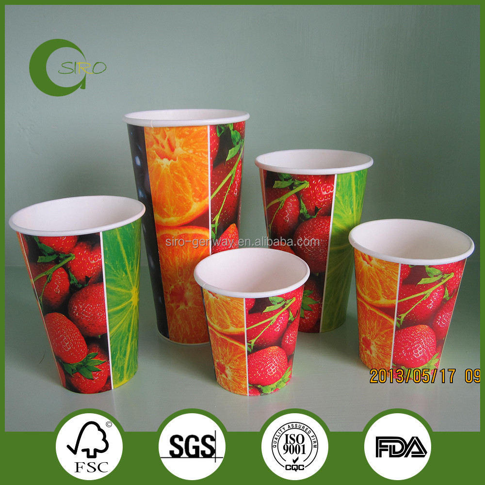 Wholesale cold drink paper cups,custom printed paper cups