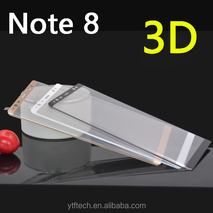 New Coming 3D tempered glass full cover curved screen protector for Samsung Note 8