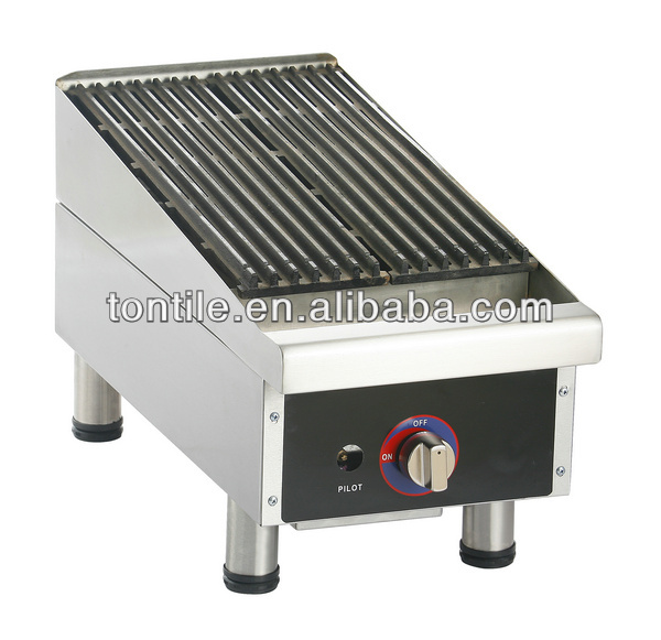 Commerical hotel kitchen equipments roasted food cooking machine USA style gas lava rock grill