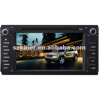 "6.2"" 2-Din Car DVD player for Jeep Compass/ Grand Cherokee with 8CD Virtual,USB,SD,FM,IPOD,BT,TV,GPS and IPHONE menu"