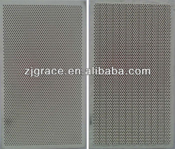 Cheap infrared porous ceramic plate