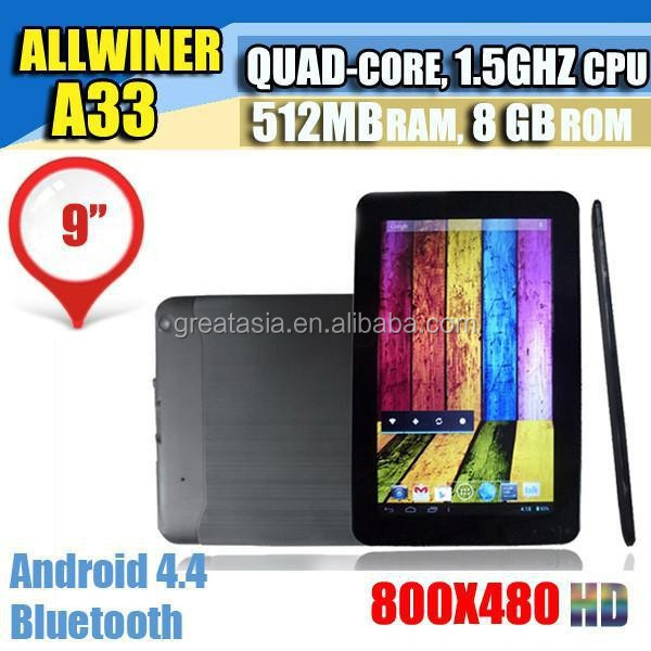 Bulk Wholesale Android Tablet 9 inch Allwinner A33 ROM 8GB Tablet PC