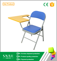 modern Folding metal student stool chair seats with writing pad