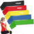 Light, Medium, Heavy 100% natural latex Strength colorful fitness resistance band set Latexloop band