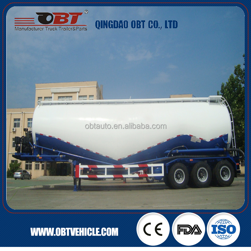 Grand 60T bulk cement powder cargo tanker semi trailer