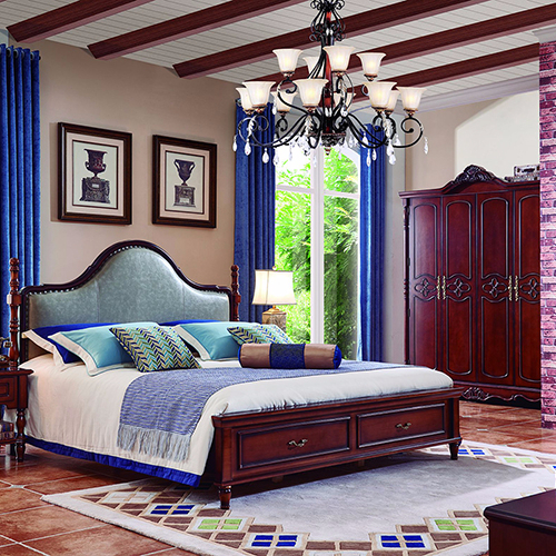 Fashion design king size bedroom furniture set was made from white ash wood for bedroom furniture