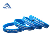 Business ID Hand Strap Rubber Band Blue Wristband With Logo Printing