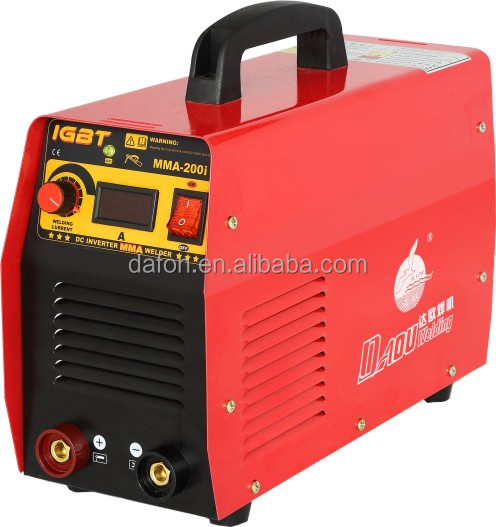 MLZ daou brand IGBT hot sale dc mma inverter small portable electric arc welding machine arc-200