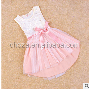 C62068A 2014 korean summer style for kid's cotton dress