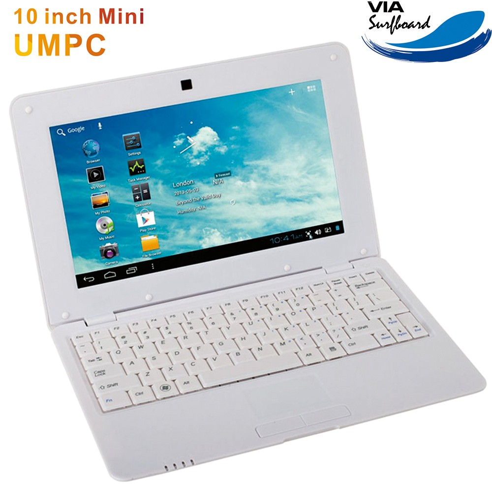 Cheap pirce wholesale <strong>10</strong> inch dual core VIA8880 Android 5.1 wince7.0 mini laptop