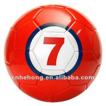Hight quality Red Color Soccerball 2016 sewing maching soccer ball