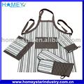 cotton printed kitchen apron sets 4pcs