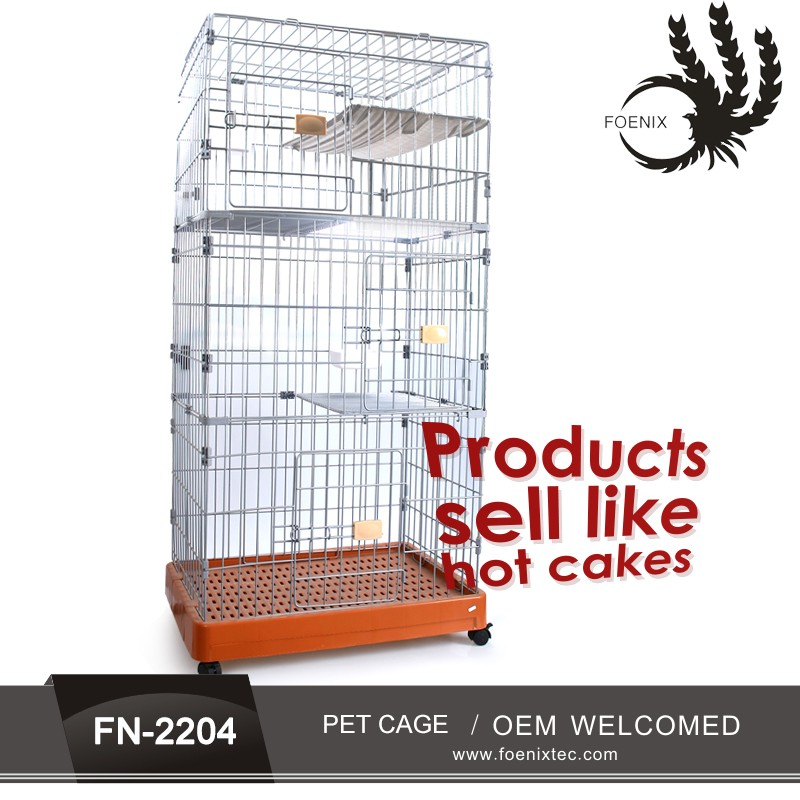 Manufacturer best-selling cheap large size Iron cat cages metal folding dog cage