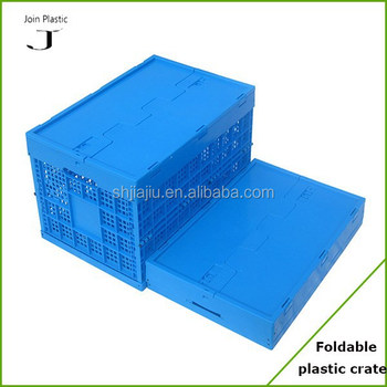 100% virgin hot sale plastic foldable basket with lid