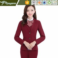 KU085 Models For Company Office Uniform Blouses Design For Ladies