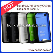 External Full 1900mAh Mobile Phone Battery Pack for Iphone4/4S