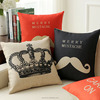 Wedding decoration British red and blue throw pillows mustache love couple sofa car cushion and pillow cover cushion cover