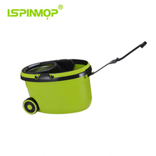 ISPINMOP Stainless Steel Deluxe Rolling Spin Mop including two micro fiber