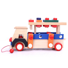 Wooden Toy Car with 5 Layer Track for Kids Playing