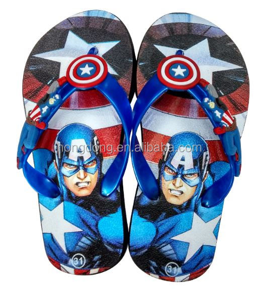 Wholesale custom printed flip flops rubber beach kids flip flop <strong>slippers</strong>