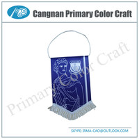 High Quality mini pennant flag football club pennant flag Cheap custom flags