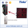 Indoor Didital Clock with Temperature Display Large LED Temperature Humidity Monitor for HVAC System