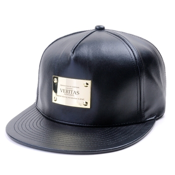 Chinese wholesale leather caps,wide brim cheap black 5 panel snapback wholesale