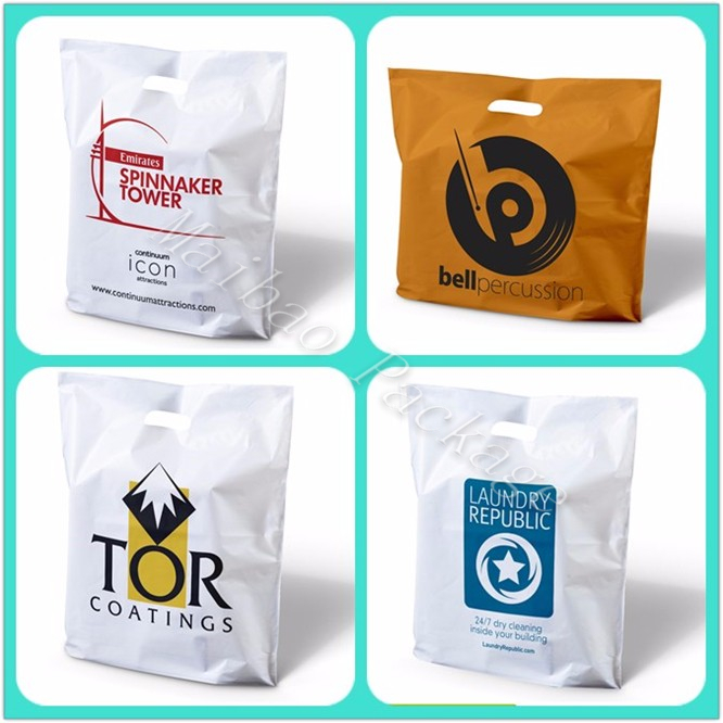 Enviromental Protection Guangzhou Custom Printing Shopping Plastic Bags with OWN LOGO