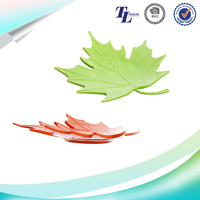 Maple leaf PVC plastic soap holders for showers popular fancy soap dish