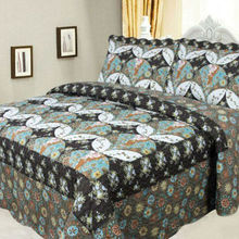 BW-A0-27 New flower style cover designs for cotton printed branded bedsheet set
