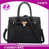 2016 china newest large elegant office lady pu leather bags handbag for women with long leather strap