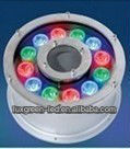 IP68 RGBW led 12x1w ring underwater fountain light with 3years warranty pass CE RoHS