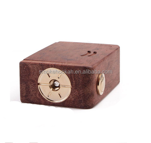 New arrival gepetto elite v2 box mod clone hot selling wooden box mod 18350 battery R3 mini wood box mod