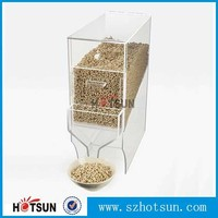2016 Factory Manufacturing clear acrylic grain dispenser