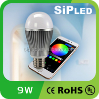 AC85-265V 2.4GHz Wireless Mi.Light Touch Control E27 Smart Lighting 9W LED Light Bulb with WiFi Android IOS APP wifi led bulb
