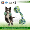 QQ Pet Factory New Candy Color Cotton Rope Dumbbell Pet Toys Pet Products Latex Dog Toy